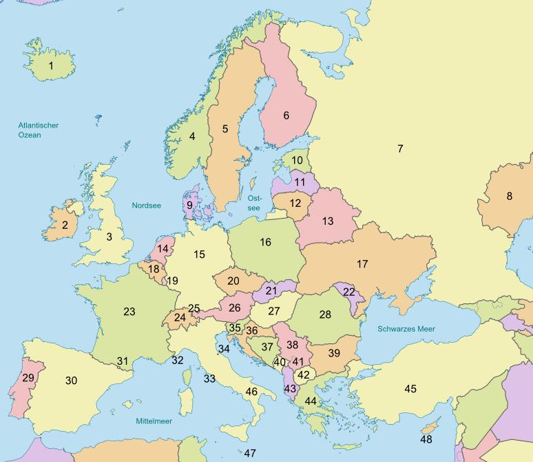 Quiz Länder