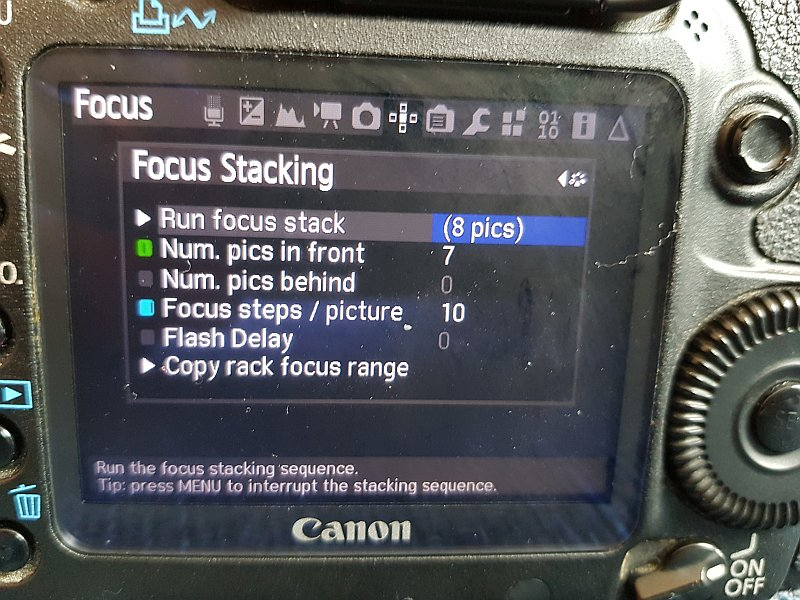 Example of the Focus stacking option