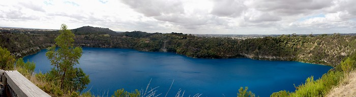 Blue Lake in Mount Gambier in South Australia